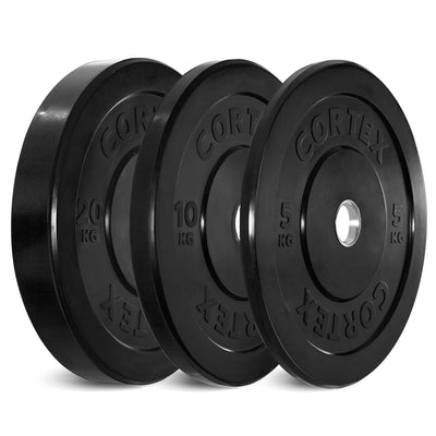 Cortex Black Series Bumper Olympic Plate Set 70kg (5/10/20 x2)