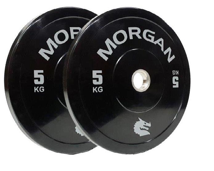 MORGAN 5KG OLYMPIC BUMPER PLATES  (PAIR)