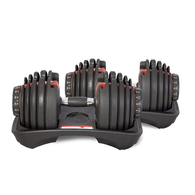 Adjustable Dumbbells 52.5lb in Pairs (48kg) + Stand
