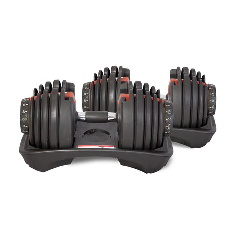 Adjustable Dumbbells 52.5lb in Pairs (48kg)