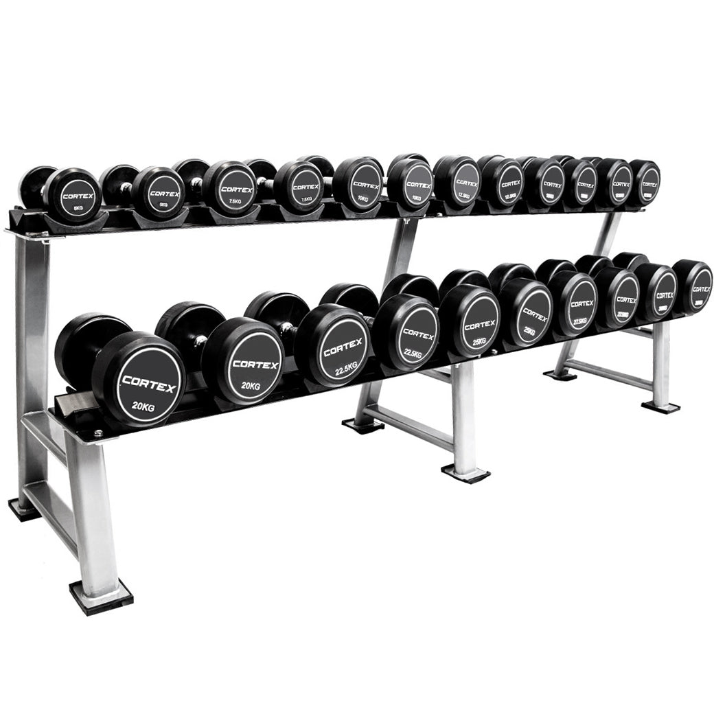 PRO FIXED DUMBBELL SET 5-30KG + STAND