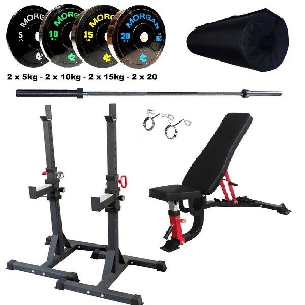 Morgan Commercial Grade Squat - Bench & Workout Pack