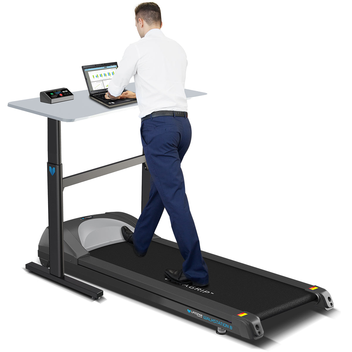 Lifespan Walkstation B Treadmill Base with Ergo Desk Package