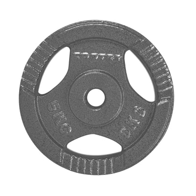 Cast Iron Tri-Grip Weight Plate 5kg Pair