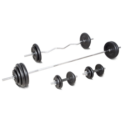 120kg Cast Iron Weightset with Weight Tree