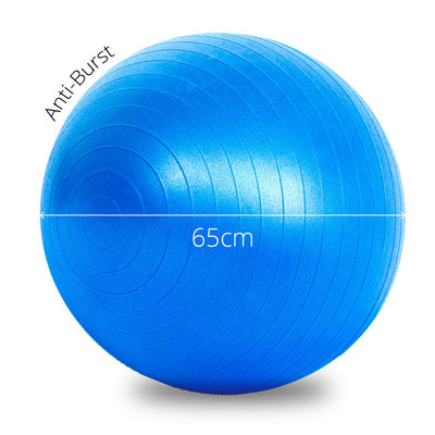 Yoga Set with Blue Mat and Wheel