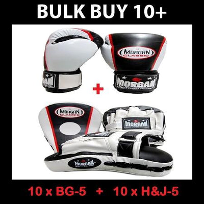 MORGAN BULK CLASSIC FOCUS PADS AND BOXING GLOVES 10+