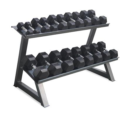 MORGAN RUBBER HEX DUMBBELL RACK - DLX