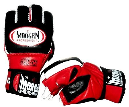MORGAN PROFESSIONAL GEL MMA HYBRID LEATHER BAG GLOVES