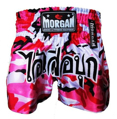 MORGAN MUAY THAI PINK DIABLA CAMO SHORTS