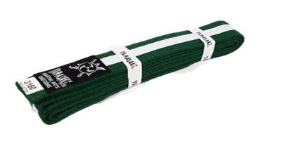 YAMASAKI COLOURED MARTIAL ARTS BELTS (WITH WHITE STRIPE)