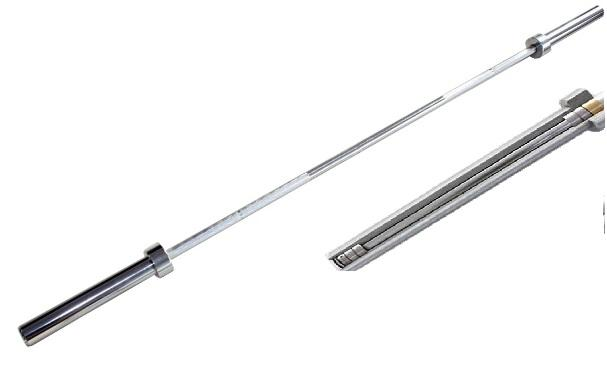 15kg Morgan Womens Olympic Chrome Barbell - 550KG Max Capacity