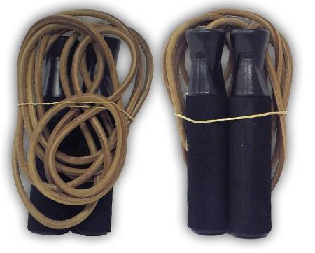 MORGAN WEIGHTED (400gr) FOAM HANDLE & LEATHER SKIPPING ROPE