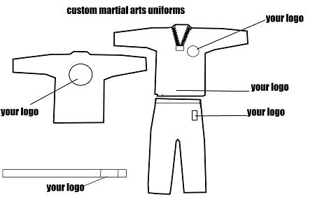 Custom 8oz TKD Uniforms
