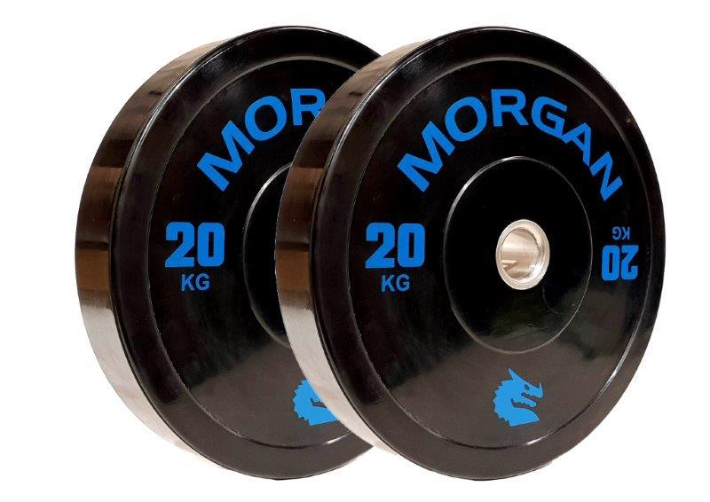 MORGAN 20KG OLYMPIC BUMPER PLATES  (PAIR)