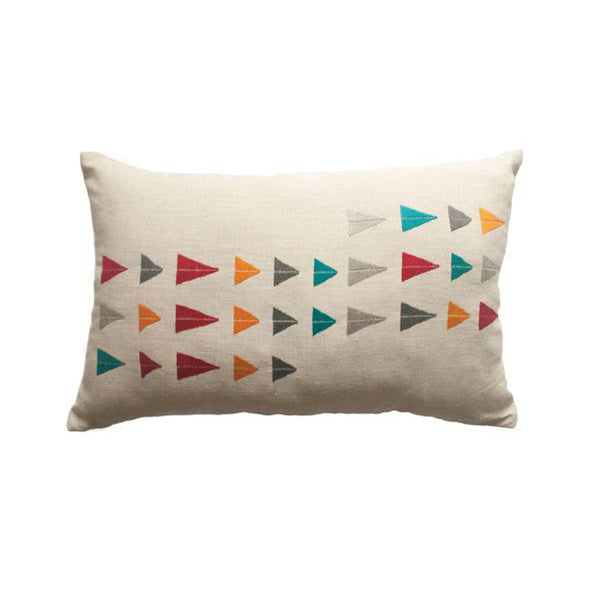 Arizona River Pillow by Leah Singh