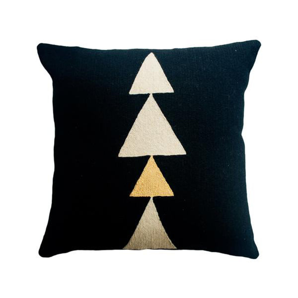 Anaya Tree Gold Pillow by Leah Singh