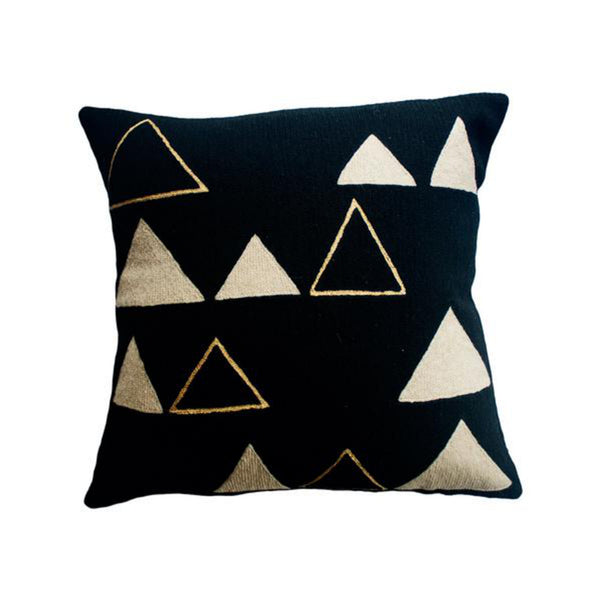 Anaya Mountain Gold Pillow by Leah Singh