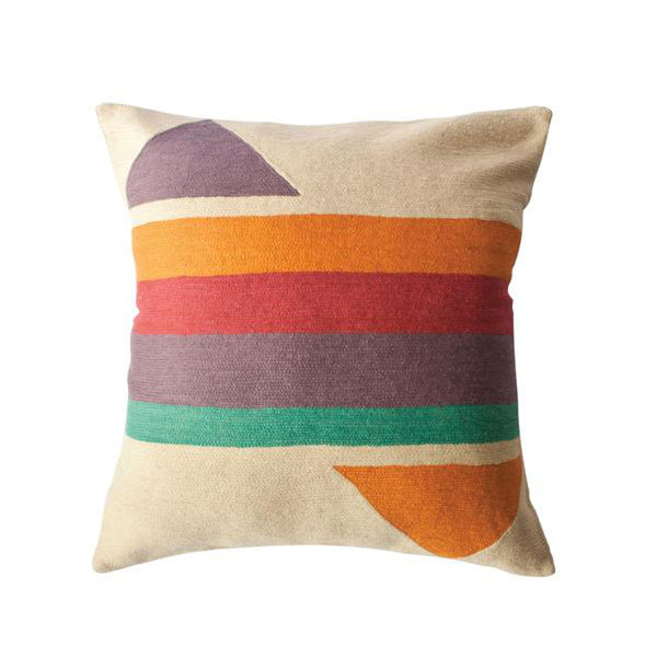 Bar Technicolor Pillow by Leah Singh