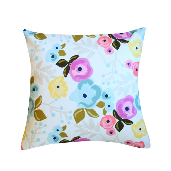 Bloom Ecru Pillow by Clairebella Studio