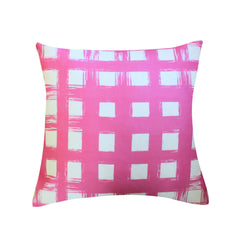 Brush Check Orchid Pillow by Clairebella Studio - Pillow - Clairebella Studio - Salut Home