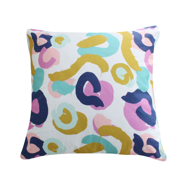 Brushstrokes Orchid Pillow by Clairebella Studio