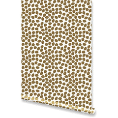 Dottie Metallic Gold Wallpaper by Clairebella Studio - Wallpaper - Clairebella Studio - Salut Home