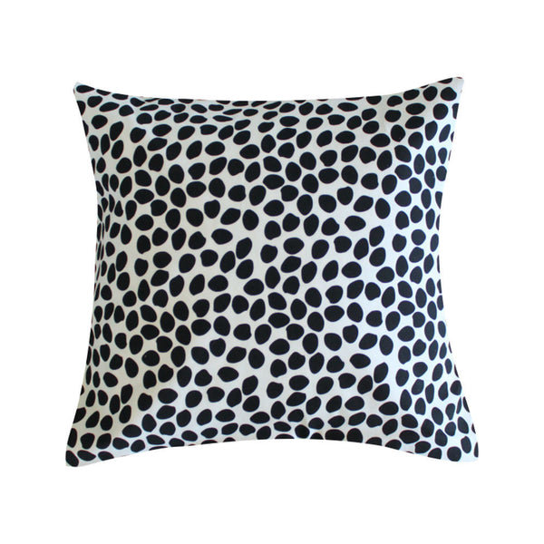 Dottie Black Pillow by Clairebella Studio