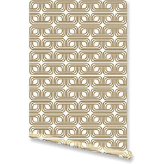 Mid Mod Metallic Gold Wallpaper by Clairebella Studio - Wallpaper - Clairebella Studio - Salut Home