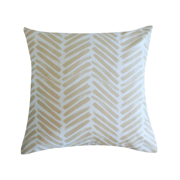 Herringbone Sand Pillow by Clairebella Studio