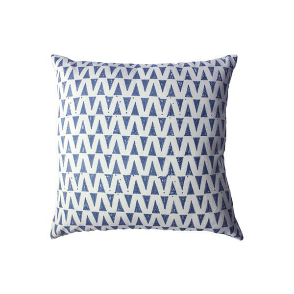 Indigo Drops Pillow by Leah Singh