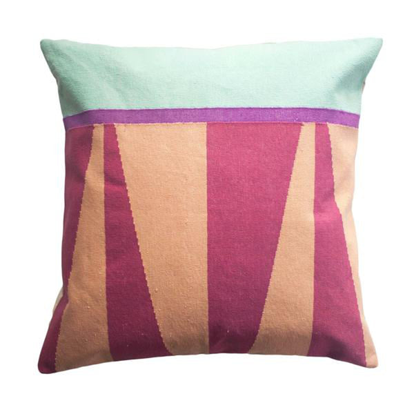 Jordan Blush Pillow by Leah Singh