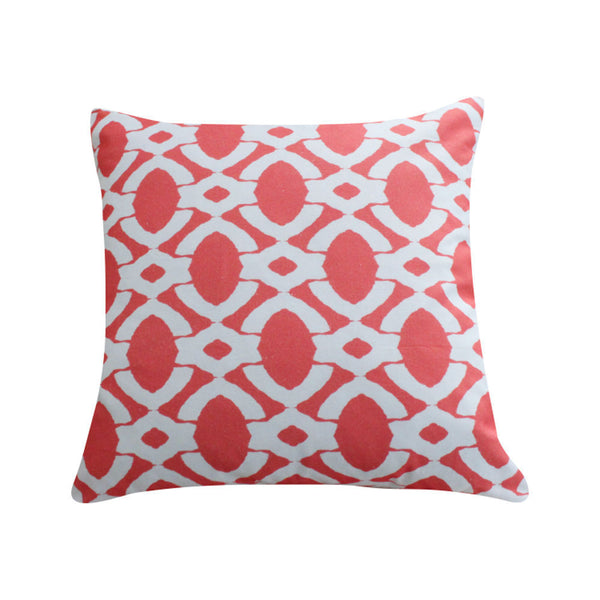 Langley Coral Pillow by Clairebella Studio