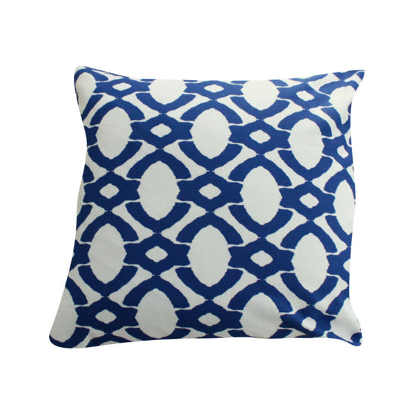 Langley Navy Pillow by Clairebella Studio