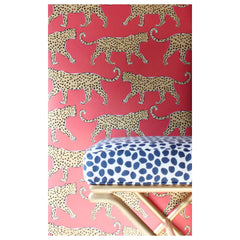 Leopard Coral Wallpaper by Clairebella Studio - Wallpaper - Clairebella Studio - Salut Home