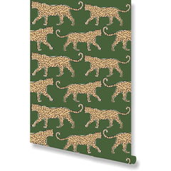 Leopard Green Wallpaper by Clairebella Studio - Wallpaper - Clairebella Studio - Salut Home