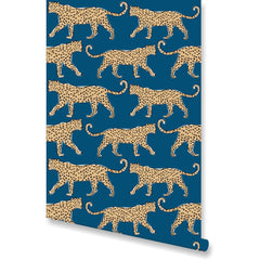 Leopard Teal Wallpaper by Clairebella Studio - Wallpaper - Clairebella Studio - Salut Home
