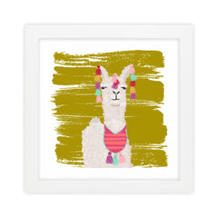 Llama I Green Art Print by Clairebella Studio - Wall Art - Clairebella Studio - Salut Home