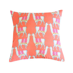 Llama Coral Pillow by Clairebella Studio - Pillow - Clairebella Studio - Salut Home