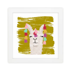 Llama II Green Art Print by Clairebella Studio - Wall Art - Clairebella Studio - Salut Home