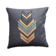 Marion Charcoal Pillow by Leah Singh
