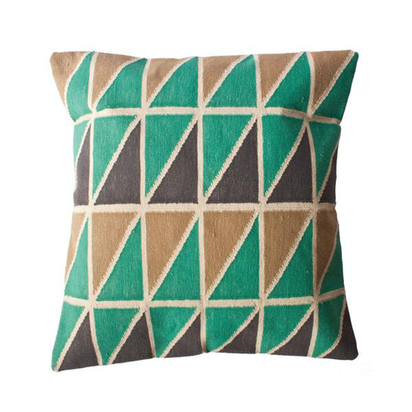 Mave Triangle Pillow by Leah Singh