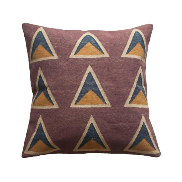 Maya Aubergine Pillow by Leah Singh