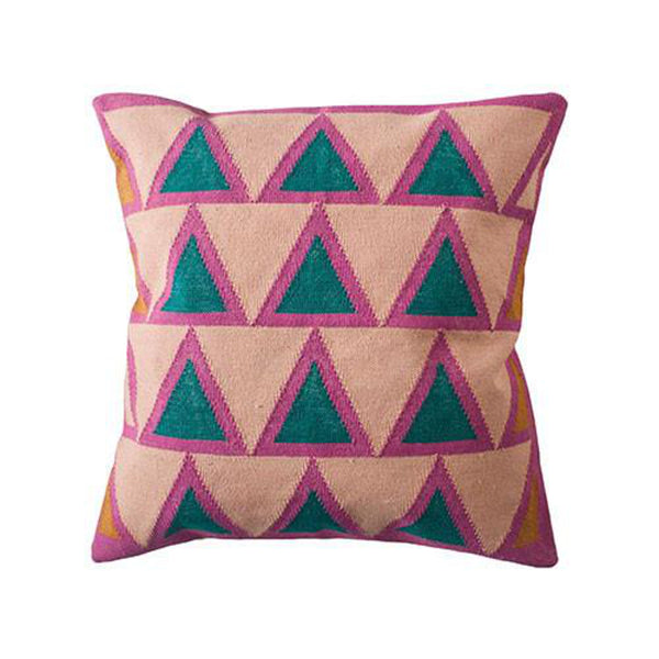 Maya Light Pink Pillow by Leah Singh