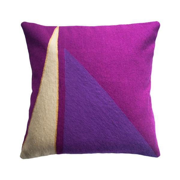 Midnight Capital Plum Pillow by Leah Singh