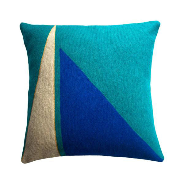 Midnight Capital Turquoise Pillow by Leah Singh