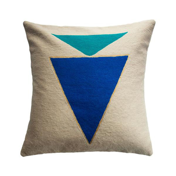 Midnight Jewel Turquoise Pillow by Leah Singh