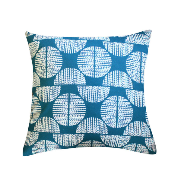 Moondance Teal Pillow by Clairebella Studio
