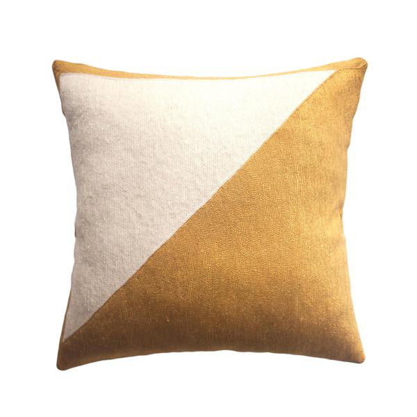 Nicole Gold Pillow by Leah Singh