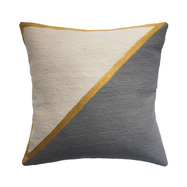 Nicole Grey Pillow by Leah Singh